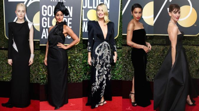 All Black on the Golden Globes Red Carpet 2018