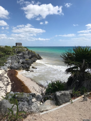 Coast line in Tulum Mexico